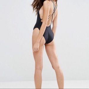 ASOS Criss Cross Back One Piece Swimsuit